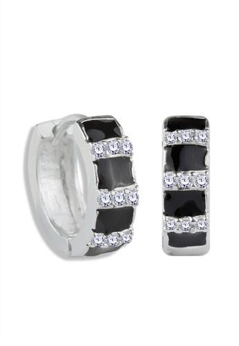 SC Tom Silver silver Clip Stone Earrings - TESL010 SC872AC51NQAPH_1