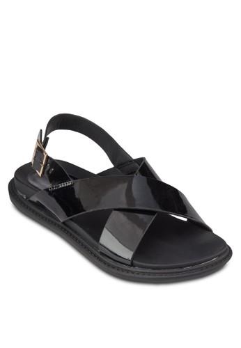 交叉帶繞踝涼鞋, 女zalora時尚購物網評價鞋, 鞋