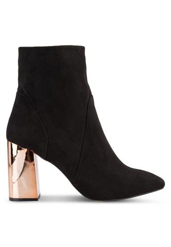 Dorothy Perkins black Black Amanda Metal Heel Boots DO816SH76EZZMY_1