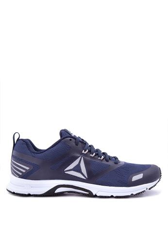 Reebok white and navy Ahary Runner Running Shoes RE600SH0J2IWPH_1