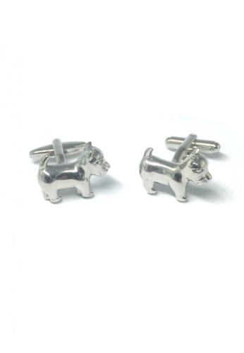 Splice Cufflinks silver Silver Puppy Cufflinks   SP744AC72DSXSG_1
