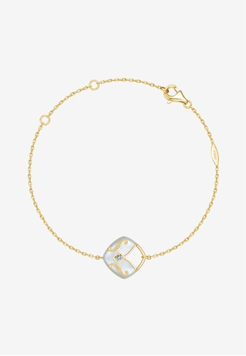 THIALH London gold THIALH London - CONCERTO Mother-of-Pearl, Diamond and Yellow Gold Bracelet CMF1203 A5A9DAC2FF4CC5GS_1
