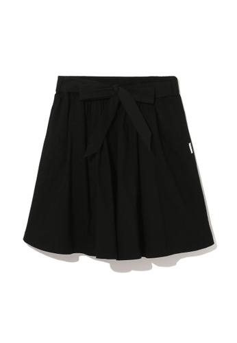 :CHOCOOLATE black Waist tie skirt B5581AA539ED2FGS_1