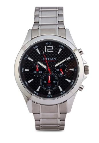 esprit chinaTitan 9323SM06 多錶盤金屬錶, 錶類, 紳士錶