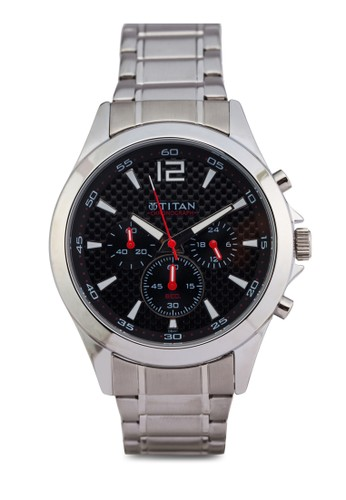 Titan 9esprit衣服目錄323SM06 多錶盤金屬錶, 錶類, 紳士錶