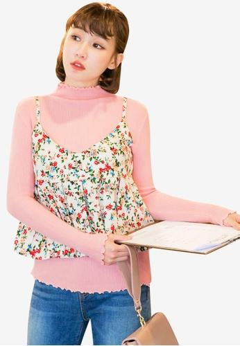Tokichoi pink Ruffled Turtleneck Pullover 6C01DAA2506DF7GS_1