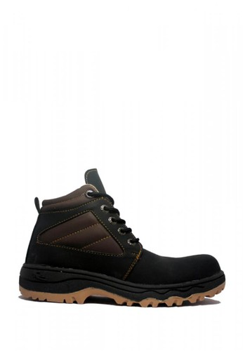 Cut Engineer black Cut Engineer Stylish Safety Boots Iron Leather Black 740C1SHB5ACF19GS_1