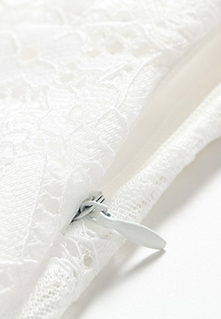 Dress White Butterfly Embroidery Lace NBRAND xRvfnEwq