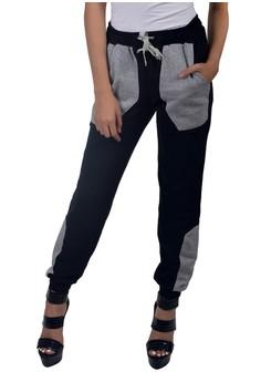 Women's Cotton Jogger Pants Patch Pocket