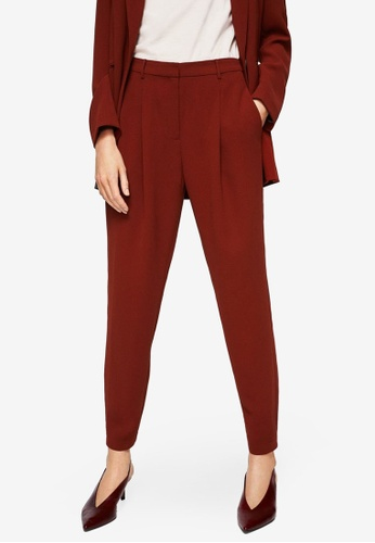 Mango red Pleated Jogging Trousers BB343AAE07DEC3GS_1