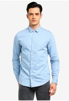 5ba0a0a6b8 Only   Sons blue Nevin Denim Shirt 169BEAA518A5AEGS 1