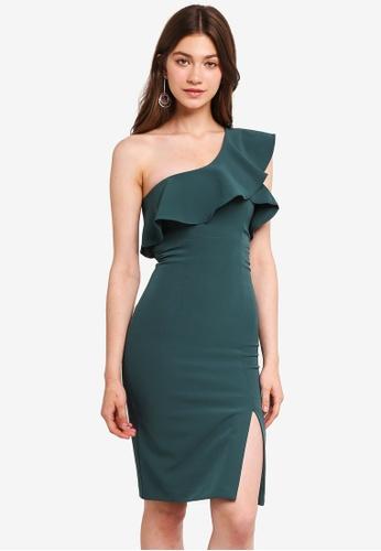 Bardot green Ruffle Dress BA332AA0ST8GMY_1