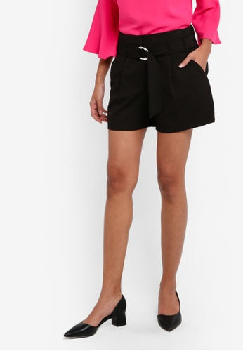 Dorothy Perkins black Black O-Ring Shorts 7A9D9AA3F13A6DGS_1