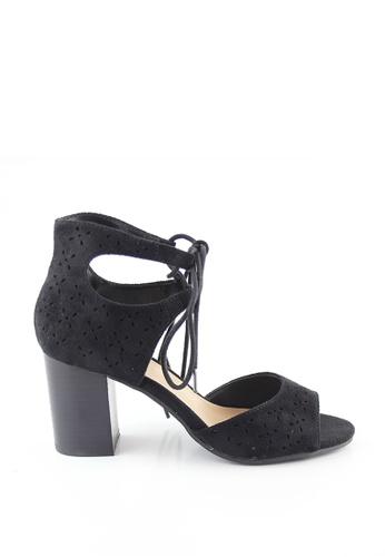 London Rag black Black Ankle Wrap Sandal 1835FSH86DB0D9GS_1