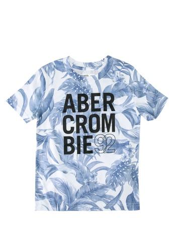Abercrombie & Fitch blue Tropical Print Logo T-Shirt E6E04KA7E3C33CGS_1