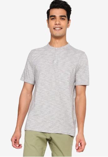Banana Republic grey Organic Soft Wash Short Sleeves Henley Tee 407F9AAD20C1CDGS_1