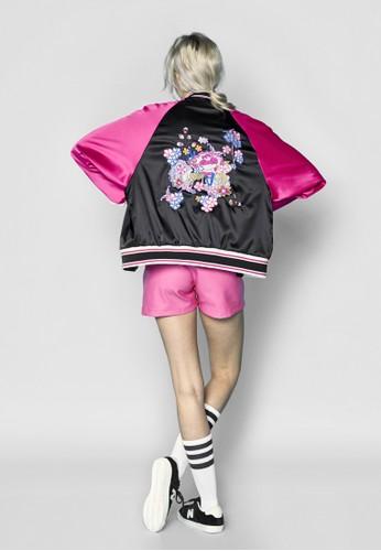 拼色拉克蘭袖刺繡棒球外套, 服飾, 外esprit女裝套