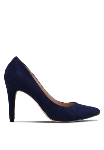 Nose navy Suede Pointed Heel Pumps BC40CSH2941DD7GS_1