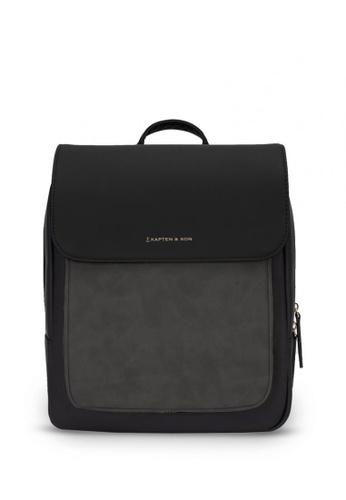 Kapten & Son black Tromso Small Backpack - All Black 303F7AC4056196GS_1