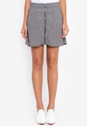 NOBASIC grey A-shape Mini Skirt NO444AA0FXPTSG_1