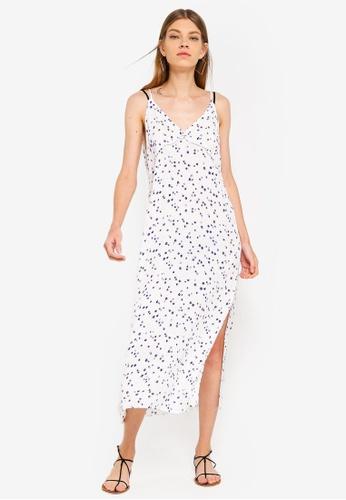 TOPSHOP white Pansy Printe Slip Dress 8169FAA12DD7F2GS_1