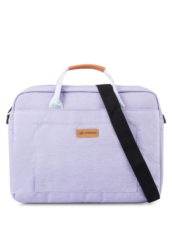 Bagstationz purple Premium 2-Way 15.6 inch Laptop Bag BA607AC87KVKMY_1