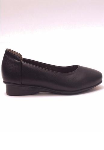 Crystal Korea Fashion black Korea Comfortable, Breathable Flat Shoes CR681SH66JTPHK_1
