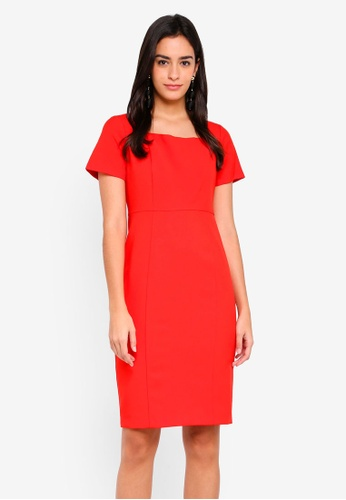 Buy Dorothy Perkins Red Square Neck Dress Online on ZALORA Singapore 3554ff1c0