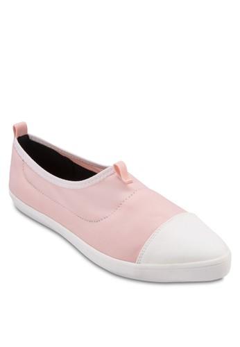 雙色緞感尖頭休閒鞋, 女鞋, zalora時尚購物網的koumi koumi鞋
