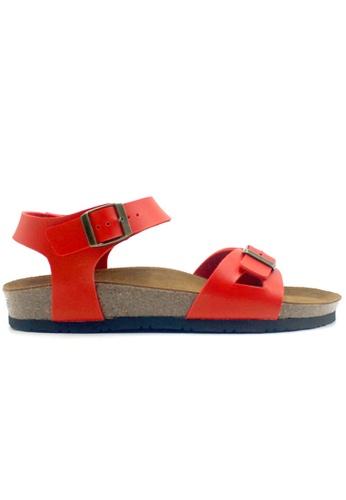 SoleSimple 紅色 Naples - 紅色 百搭/搭帶 軟木涼鞋 5D0F5SH352596FGS_1