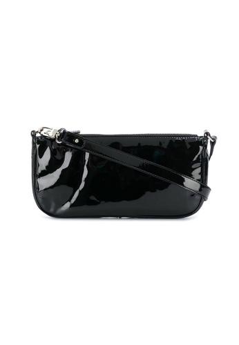By Far black By Far Rachel Croco Patent Leather Shoulder Bag in Black 30A79AC43B8F24GS_1