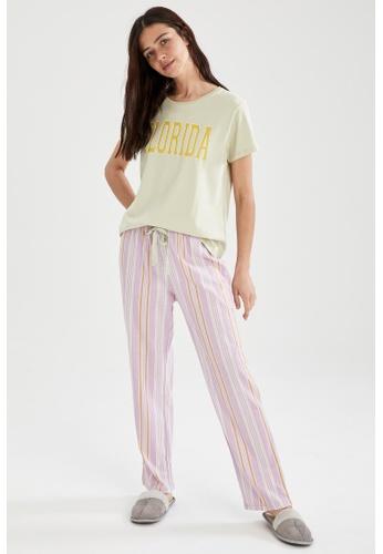 DeFacto purple Woman 2-pieces Homewear Top & Bottom Set A7CD9AA7172BFEGS_1