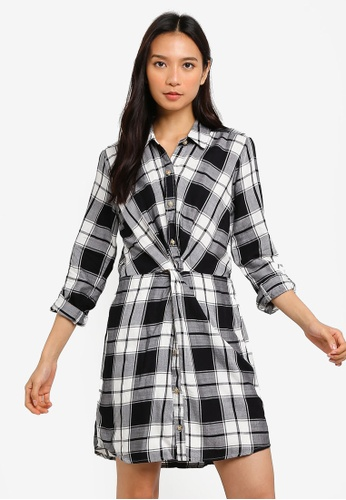 5aaf7c054e8 Shop Abercrombie   Fitch Knot Front Shirt Dress Online on ZALORA Philippines