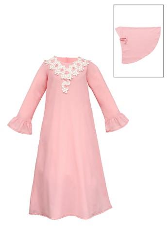 INFINE pink Muslim Dress Anak Esm 159 4/10 844DCKA8DC5D0BGS_1
