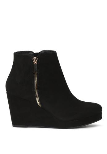 London Rag black Black Wedge Heel Boots 1E25CSHE5EFDECGS_1