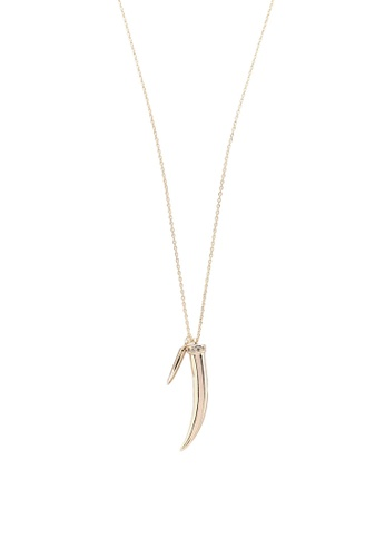 Orelia London gold Crystal Tusk Long Necklace OR747AC0SC4UMY_1