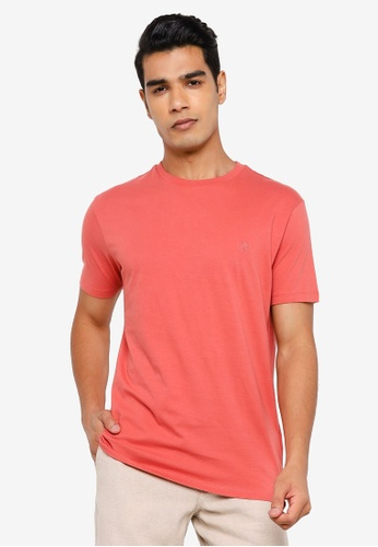 Springfield pink Basic Logo T-Shirt C070FAABFD28AAGS_1
