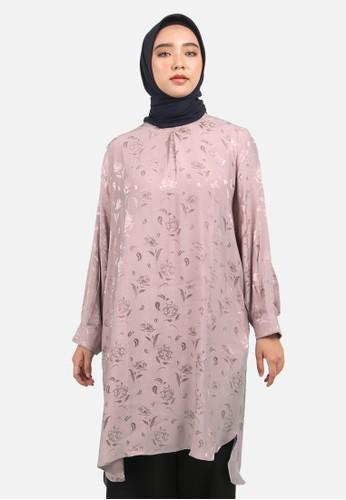 QUEENSLAND pink Jacquard Blouse Motif B10190Q Pink E07C1AAA545695GS_1