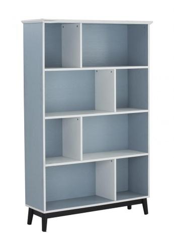 DoYoung blue HOYT (114H175cm Light Blue) Tall Bookcase 82AAFHL5385AFDGS_1