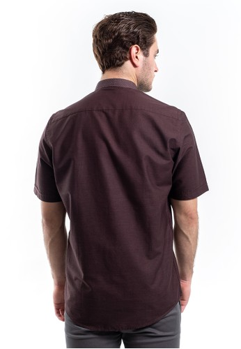 Jual MANLY Manly Kemeja Slim Fit Pattern Donnel Brown