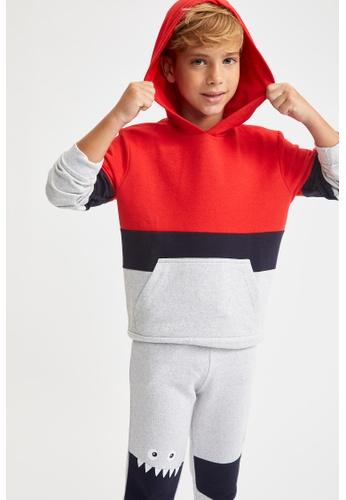 DeFacto red Long Sleeve Hoodie E98EEKAAACAC08GS_1