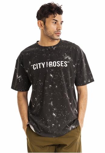RYZ black RYZ Limited Edition CITY OF ROSES Portland Black Short Sleeve T-Shirt. C6945AACBB7A23GS_1