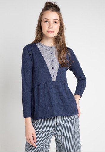 Cressida Ladies multi and navy Diva Fashion Blouse C4D18AA01FD516GS_1