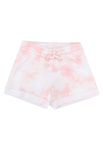 FOX Kids & Baby pink Pink Tie Dye Drawstring Shorts 7B17EKAE9BC9B5GS_1