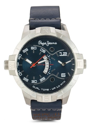 R2351107004 Marlon 雙時區皮革男士圓錶, 錶類esprit台灣門市, 飾品配件