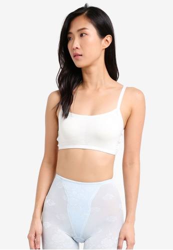 Impression white Caged Bra with Removable Paddings IM679US0SPVUMY_1