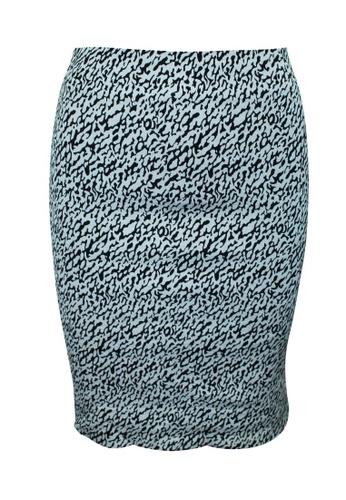 DIANE VON FURSTENBERG 黑色 diane von furstenberg 黑白印花鉛筆裙 7A295AA8588379GS_1