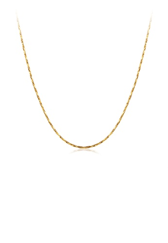 Glamorousky silver Fashion Simple Plated Gold Snake Necklace 68537AC68A36FEGS_1
