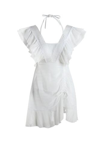 Its Me white Sexy Gauze Big Backless One-Piece Swimsuit D3B3EUS4B9F58CGS_1