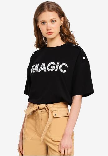 ESPRIT black Magic Short Sleeve T-Shirt 1EEAEAAAF0B0D3GS_1